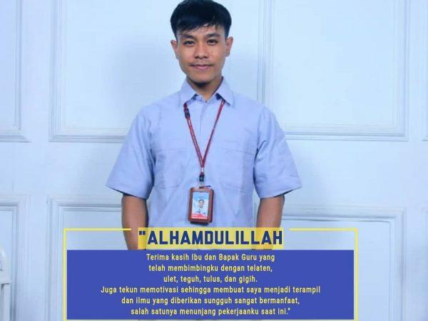 Dimas Adetias Pratama Alumni SMK Texmaco Pemalang yang Bekerja di PT Toyota